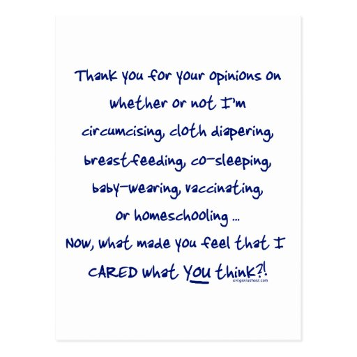 What made you think I cared? Post Cards