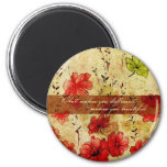 What makes you different makes you beautiful 6 cm round magnet