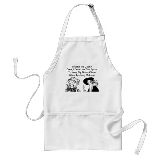 WHAT ME COOK? Funny Diva Ladies Chef Vintage Apron