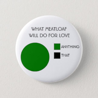 WHAT MEATLOAF WILL DO FOR LOVE 6 CM ROUND BADGE