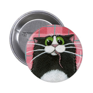 What Mouse Whimsical Cat Button