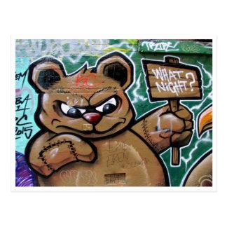what night teddy postcard