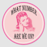 what number are we on? round stickers