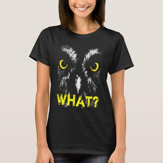 """""""WHAT?"""" Owl Portrait T-Shirt"""