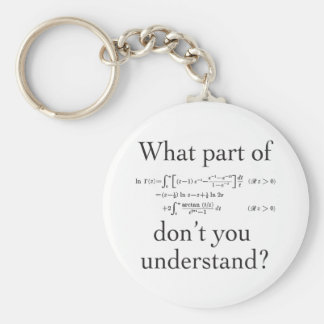 What part of... basic round button key ring