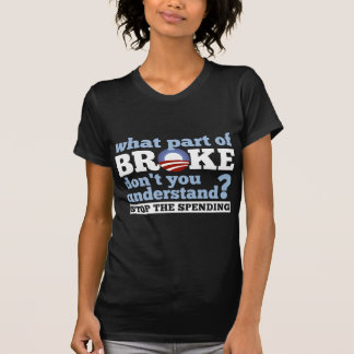 What Part of BROKE Don't You Understand? Tee Shirt