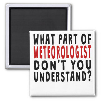 What Part Of Meteorologist Square Magnet
