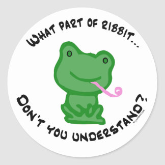 What part of Ribbit... Stickers