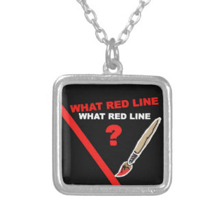 What red line What red line Personalized Necklace