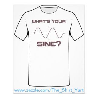 What s Your Sine Nerdy Pick Up Line Personalized Flyer
