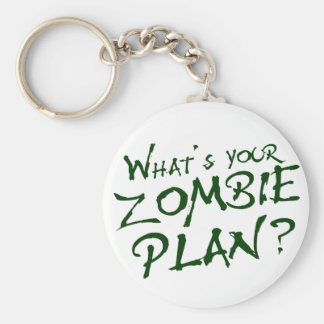 What s Your Zombie Plan Key Chain