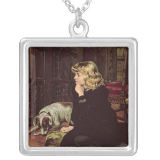What Shall I Read? Silver Plated Necklace