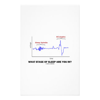 What Stage Of Sleep Are You In? Personalized Stationery