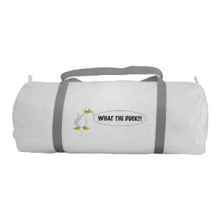 WHAT THE DUCK?! SB Duffle Gym Bag Gym Duffel Bag