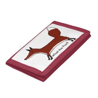 """What the Fox?"" walle - cute fox by Kawaii DayZoo Trifold Wallets"