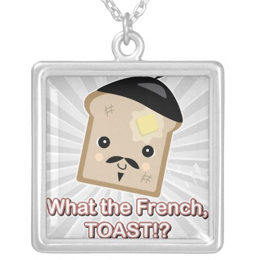 what the french toast square pendant necklace