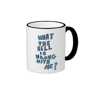 'What The Hell' Grunge Quote Mug