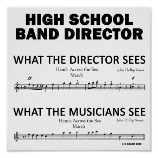 What the High School Band Sees Poster