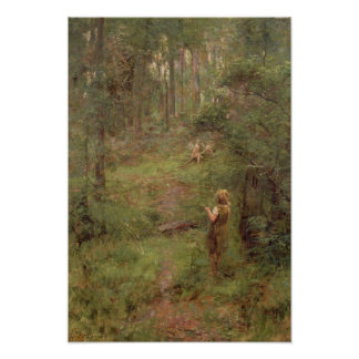 What the Little Girl Saw in the Bush, 1904 Poster
