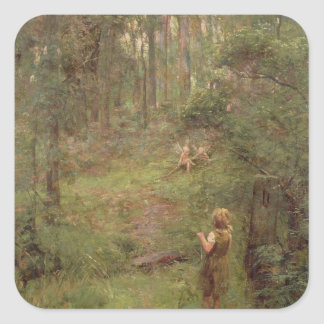 What the Little Girl Saw in the Bush, 1904 Square Sticker