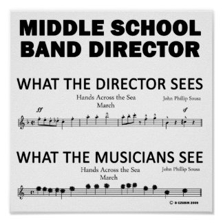 What the Middle School Band Sees Poster
