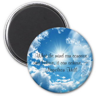 What the mind can conceive... 6 cm round magnet