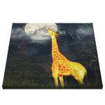 What the moon tastes like? Giraffe & Moon | Canvas Canvas Print