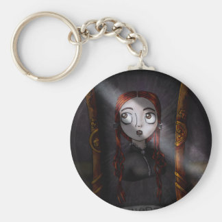 What the Portraits See Basic Round Button Key Ring