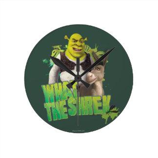 What The Shrek Round Clock