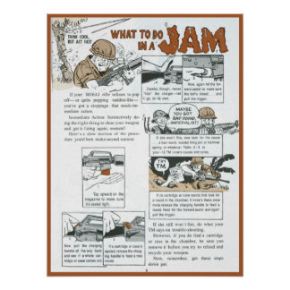 What to do in a Jam Poster