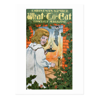 'What To Eat Magazine, Christmas Number' (colour l Postcard