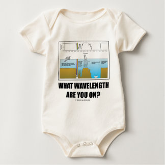 What Wavelength Are You On? (Electromagnetism) Baby Bodysuit