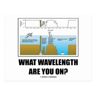 What Wavelength Are You On? (Electromagnetism) Postcard