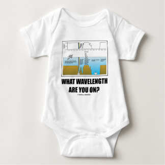 What Wavelength Are You On? (Psychology Humor) Baby Bodysuit