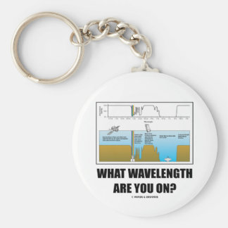 What Wavelength Are You On? (Psychology Humor) Basic Round Button Key Ring