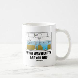 What Wavelength Are You On? (Psychology Humor) Basic White Mug