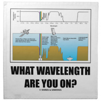 What Wavelength Are You On? (Psychology Humor) Cloth Napkins