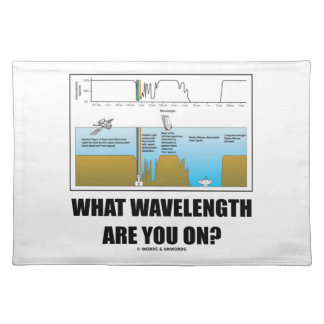 What Wavelength Are You On? (Psychology Humor) Place Mats