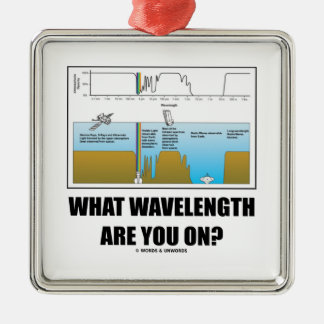 What Wavelength Are You On? (Psychology Humor) Silver-Colored Square Decoration