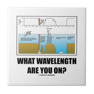 What Wavelength Are You On? (Psychology Humor) Small Square Tile