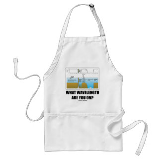 What Wavelength Are You On? (Psychology Humor) Standard Apron