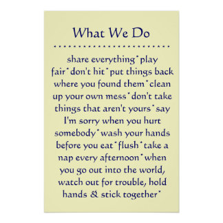 What We Do Defines Us Poster