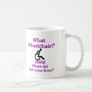 What Wheelchair Basic White Mug