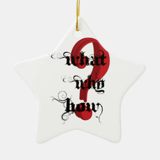 what why how Question Mark vintage Ornament