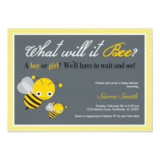 What will it Bee? Baby Shower invitation