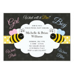 What will it Bee Gender Reveal Party Invitation