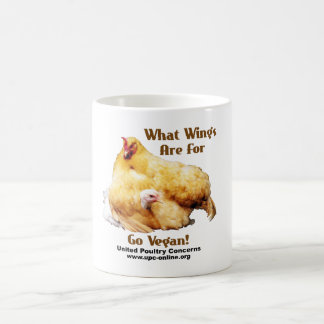 What Wings Are For - Go Vegan Coffee Mug