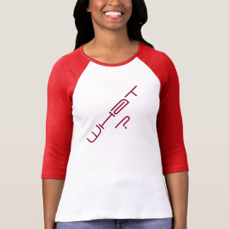 'What?' Women's 3/4 Sleeve Raglan T-Shirt