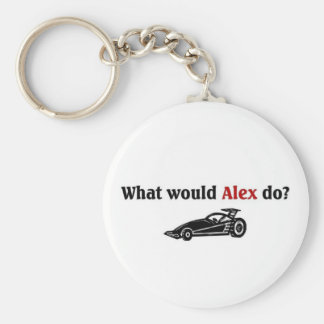 What would Alex do Basic Round Button Key Ring