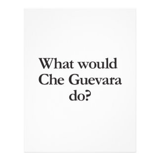 what would cheguevara do full color flyer
